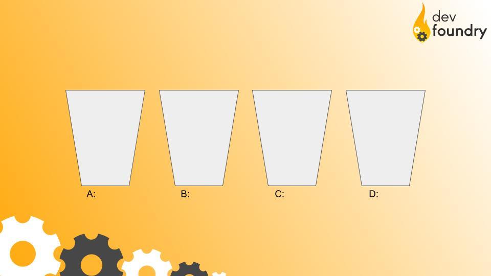 Puste kubełki obrazujące kolekcję opartą na hash tables